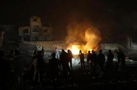 Gaza burning